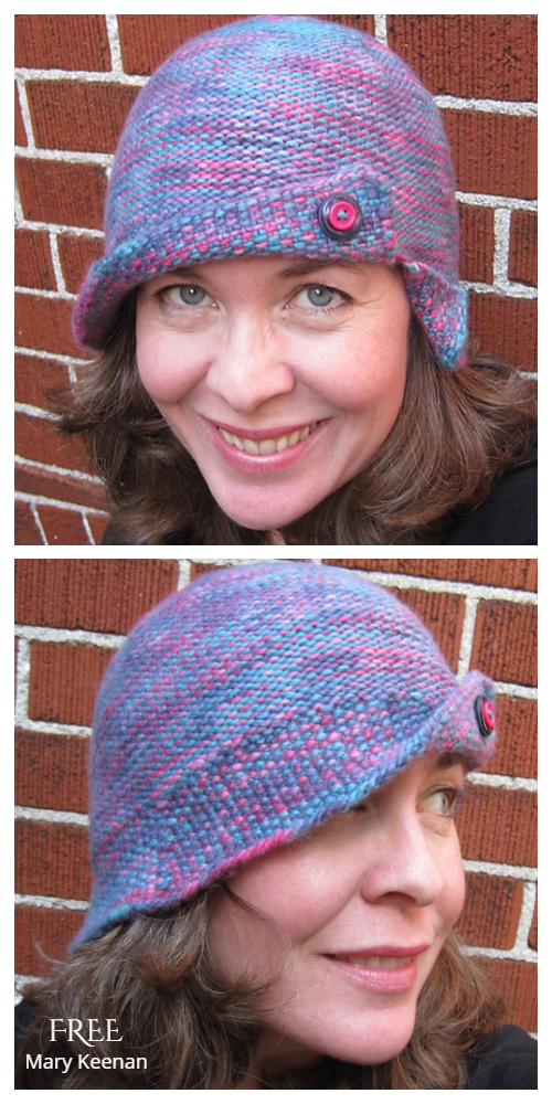 Chemo Reversible Cloche Hat Free Knitting Pattern