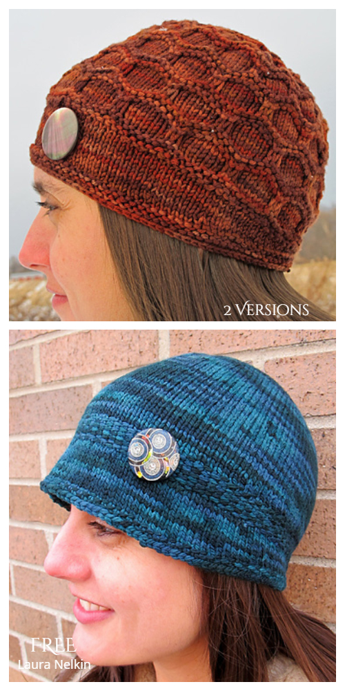 Quest Cloche Hat Free Knitting Patterns - 2 Versions