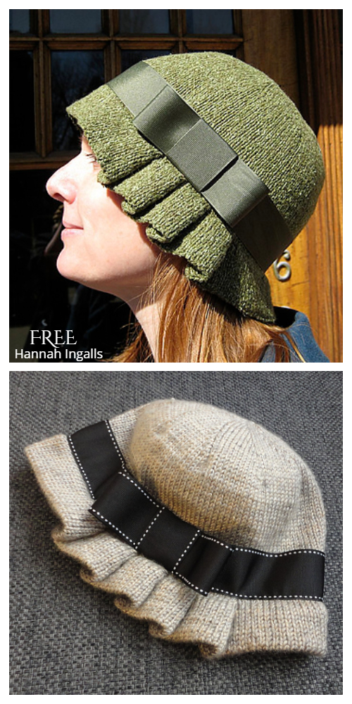 Caroline Cloche Hat Free Knitting Pattern