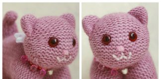 Flat Knit Kitty Toy Free Knitting Pattern