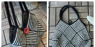 Garter Stripe Square Bag Free Knitting Pattern