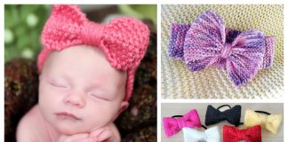 Hair Bow Free Knitting Patterns