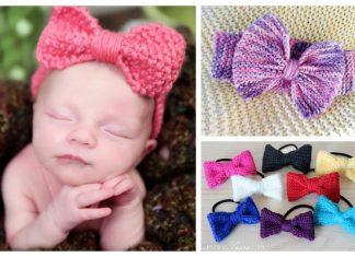 Hair Bow Free Knitting Patterns