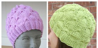Knit Butterfly Hat Free Knitting Pattern