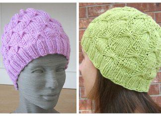 Knit Butterfly Hat Free Knitting Pattern