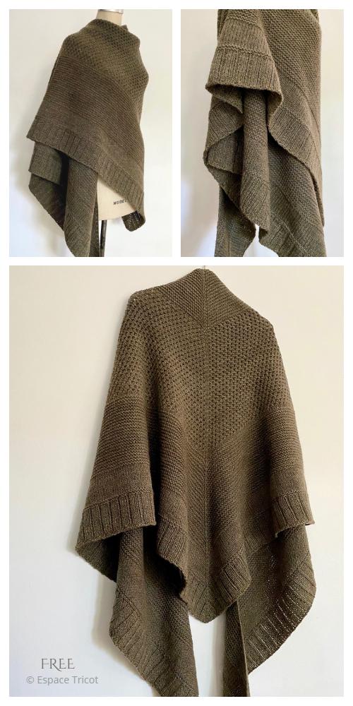 Knit Campfire Shawl Free Knitting Patterns