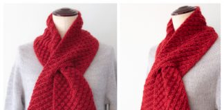 Knit Cherry Pie Scarf Free Knitting Pattern