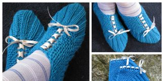 Knit Pocket Slippers Free Knitting Pattern