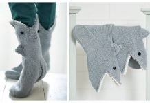 Knit Shark Sock Free Knitting Pattern