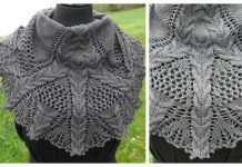 Lace Cable Shawl Free Knitting Pattern