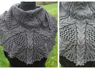 Lace Cable Shawl Free Knitting Pattern