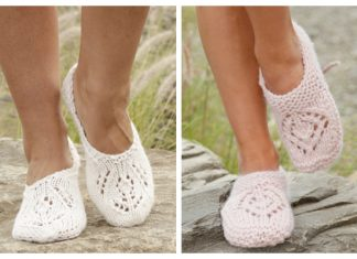 Women Lace Slippers Free Knitting Patterns