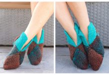 Origami Slippers Free Knitting Pattern
