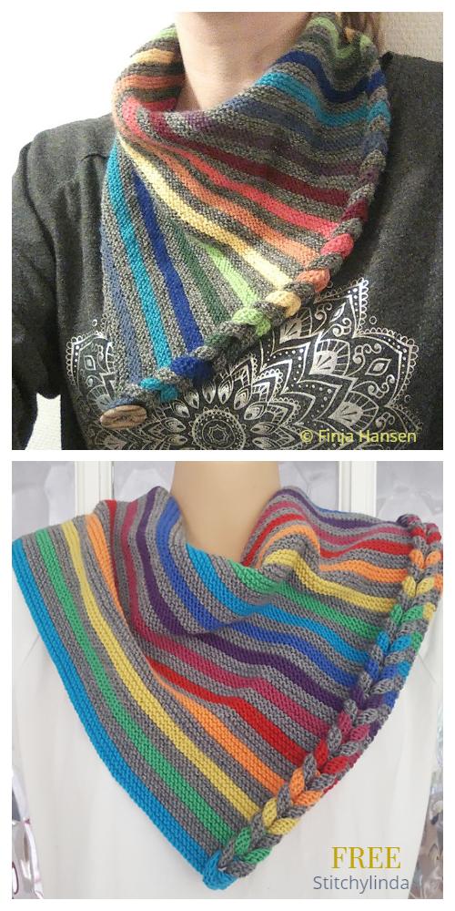 DaPunzel Rainbow Shawl Free Knitting Pattern