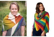 Easy Rainbow Shawl Free Knitting Patterns