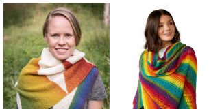 Easy Rainbow Shawl Free Knitting Patterns