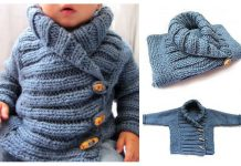 Ribbed Baby Jacket Free Knitting Pattern