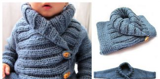 Ribbed Baby Jacket Free Knitting Pattern