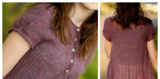 Short Sleeve Cardigan Free Knitting Pattern