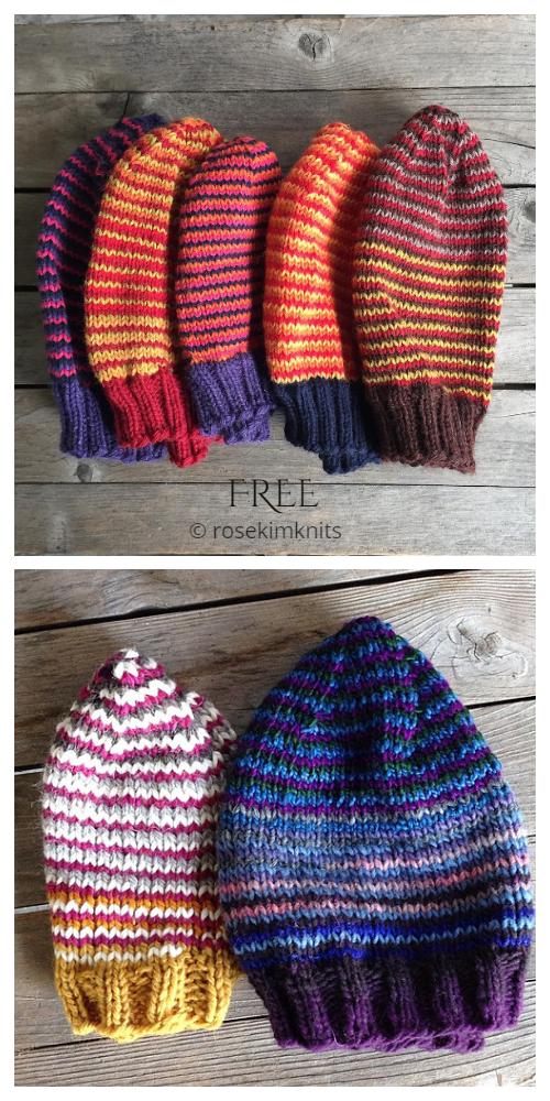 Stash bust Scrap Yarn Hat Free Knitting Patterns