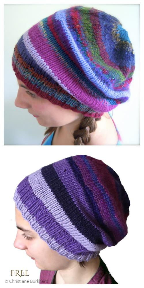 Magic Scrap Yarn Hat Free Knitting Patterns