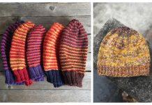 Scrap Yarn Hat Free Knitting Patterns