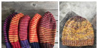 Scrap Yarn Hat Free Knitting Patterns