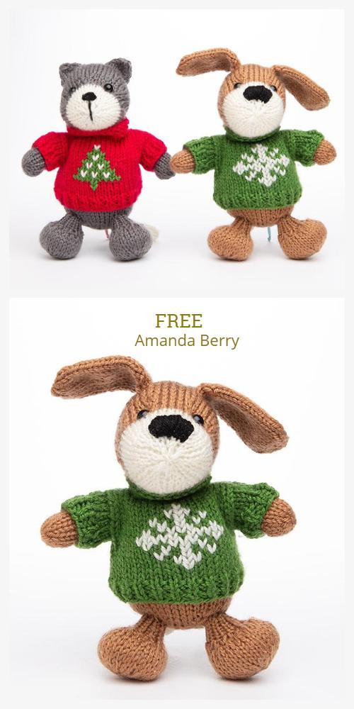 Amigurumi Christmas Pets Animal Free Knitting Patterns