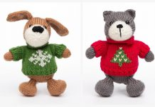 Amigurumi Christmas Animal Free Knitting Patterns