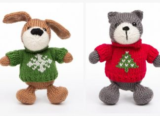 Amigurumi Christmas Animal Free Knitting Patterns
