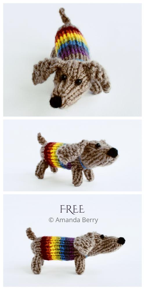 Amigurumi Sausage Dog Free Knitting Pattern