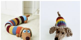 Amigurumi Sausage Dog Free Knitting Patterns