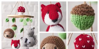 Amigurumi Woodland Animal Mobile Free Knitting Pattern