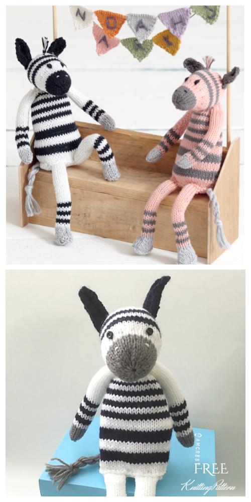 Noah's Ark Zebras Free Knitting Patterns