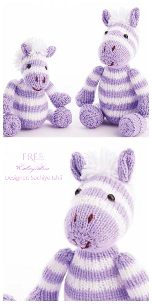 Amigurumi Zebra Duo Free Knitting Patterns