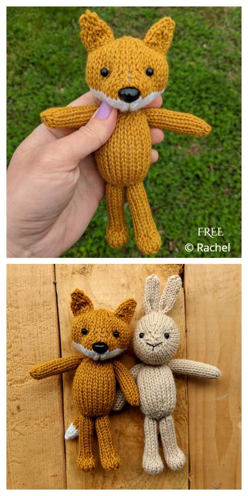 Amigurumi Fox and Bunny Free Knitting Patterns