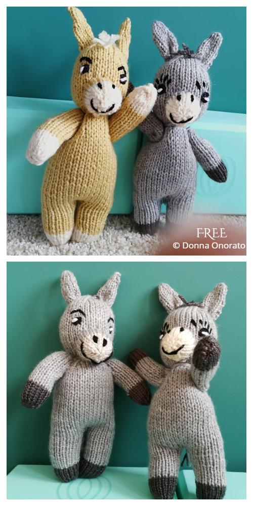 Amimgurumi Small Knit Donkey Free Knitting Pattern