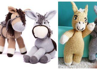 Amimgurumi Donkey Free Knitting Pattern