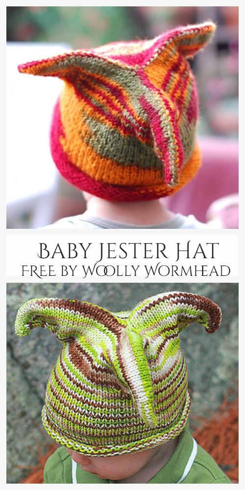 Baby Jester Hat Free Knitting Patterns