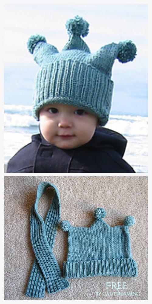 Jester Baby Hat Free Knitting Patterns