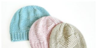 Be Loved Heart Baby Hat Free Knitting Pattern