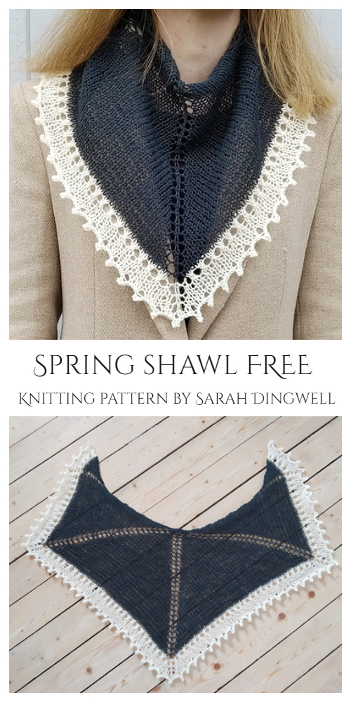 Eyelet Spring Shawl Free Knitting Patterns