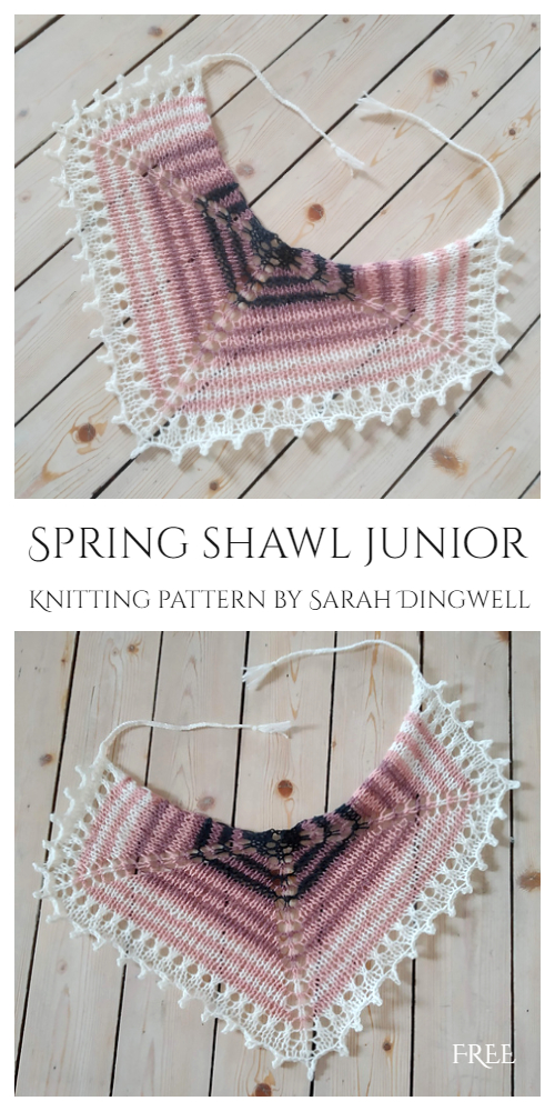 Eyelet Spring Shawl Kids Free Knitting Patterns
