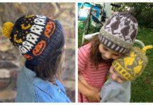 Fair Isle Halloween Hat Free Knitting Patterns & Paid