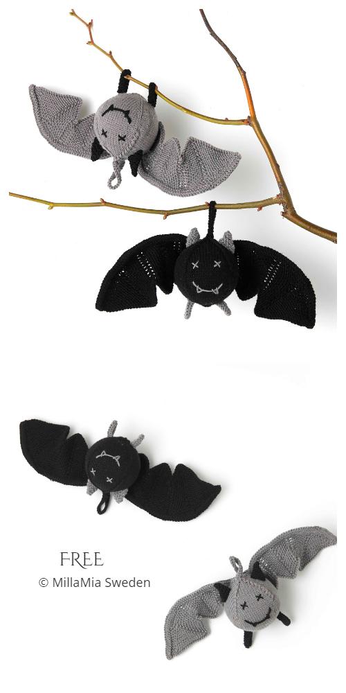 Amigurumi Halloween Bat Toy Free Knitting Patterns