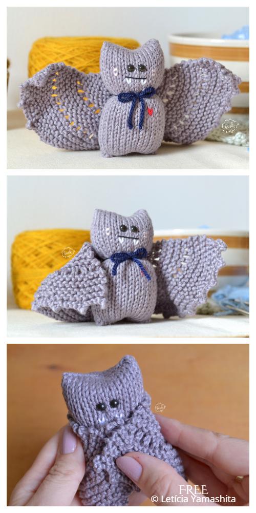 Amigurumi Halloween Bat Free Knitting Patterns
