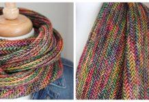 Herringbone Cowl Free Knitting Patterns