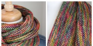 Herringbone Cowl Free Knitting Patterns