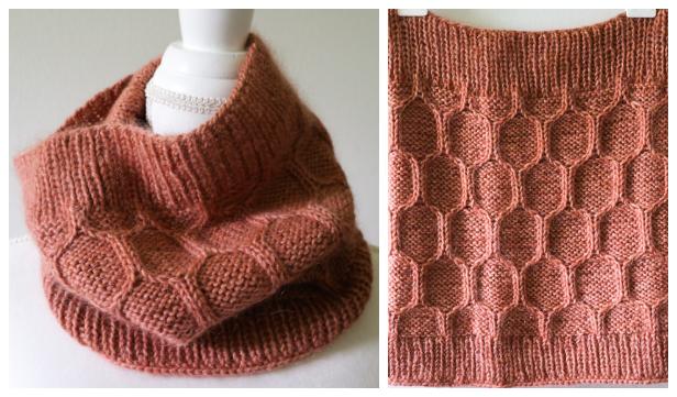Honeycomb Cowl Free Knitting Patterns - Knitting Pattern