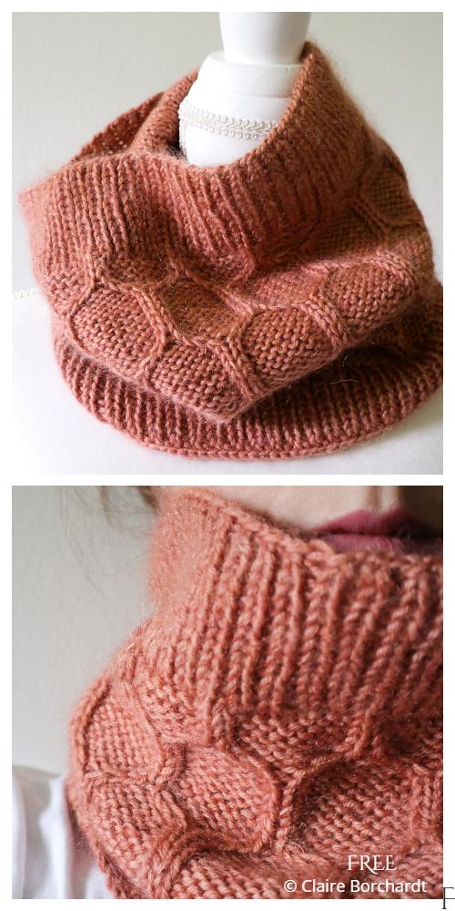 Apiarist Honeycomb Cowl Free Knitting Patterns